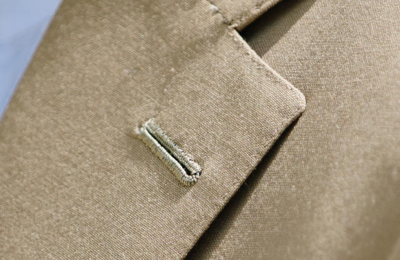 bespoke savile row Buttonhole close-up