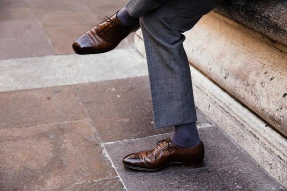 edward green alcot shoe dark brown