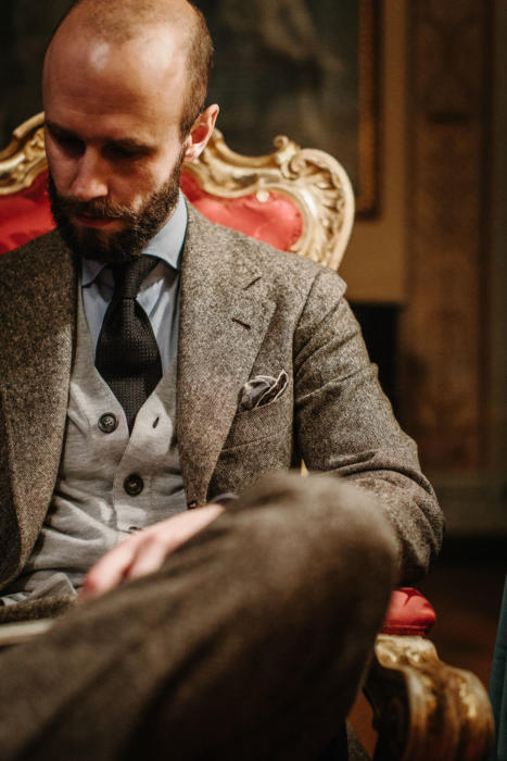 dalcuore tweed donegal bespoke suit