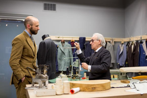 Signor francesco in his toronto workshop