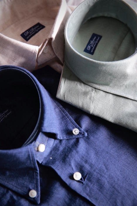 597b3d4011e7c I recently took delivery of a set of linen shirts from D'Avino in Naples  (it's been a good quarter...) and I thought the colour selection I ended up  with ...