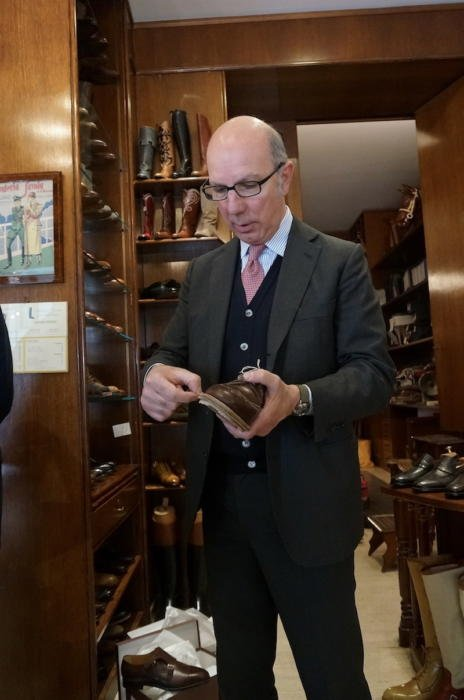 Savoia has five craftsmen: managing director Fausto Risi (pictured above),  who does all the measuring and lastmaking; his wife Silvia, who does all  the ...