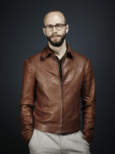 Brown leather with flannels