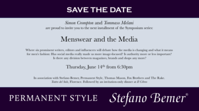 The next Symposium: Menswear and modern media – Permanent ...