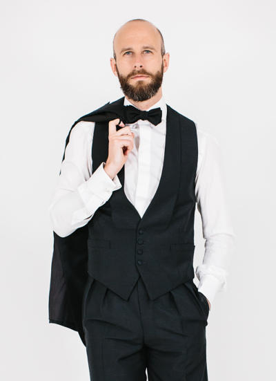 Tuxedo, mohair and grosgrain