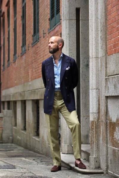 Hopsack and linen trousers – in humid Hong Kong ...