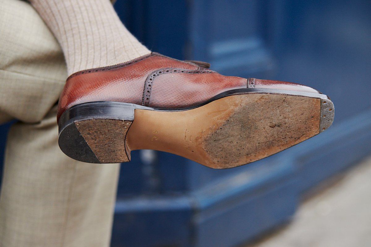 Blue Bespoke shoes from Stefano Bemer: Value bespoke
