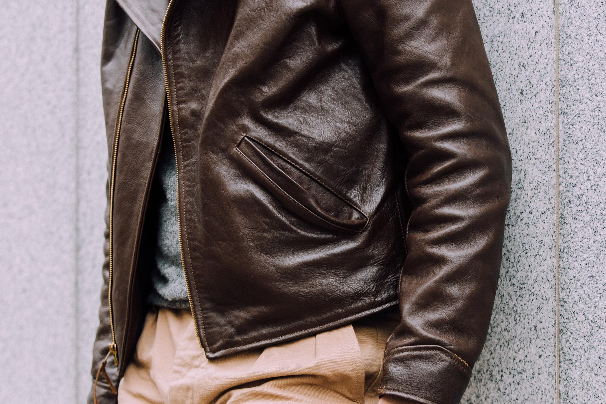 Next Class Mens Vintage Style Creases Leather Jackets