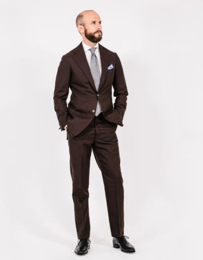 The brown suit