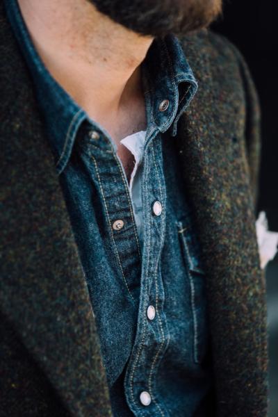 Western shirt under tailoring