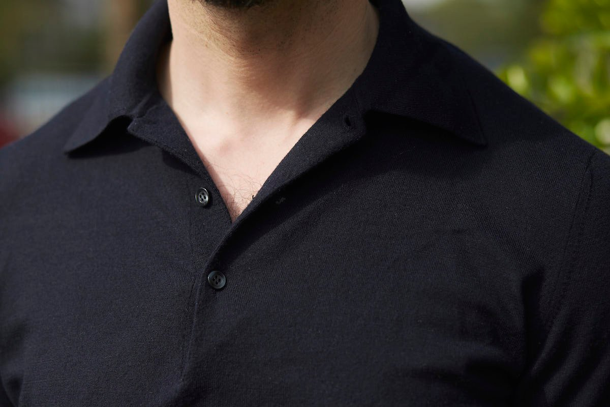 9465a9883 The only issue with polo-collar sweaters, I find, is that they don't work  under tailoring. The collar has a tendency to collapse under the lapels, ...
