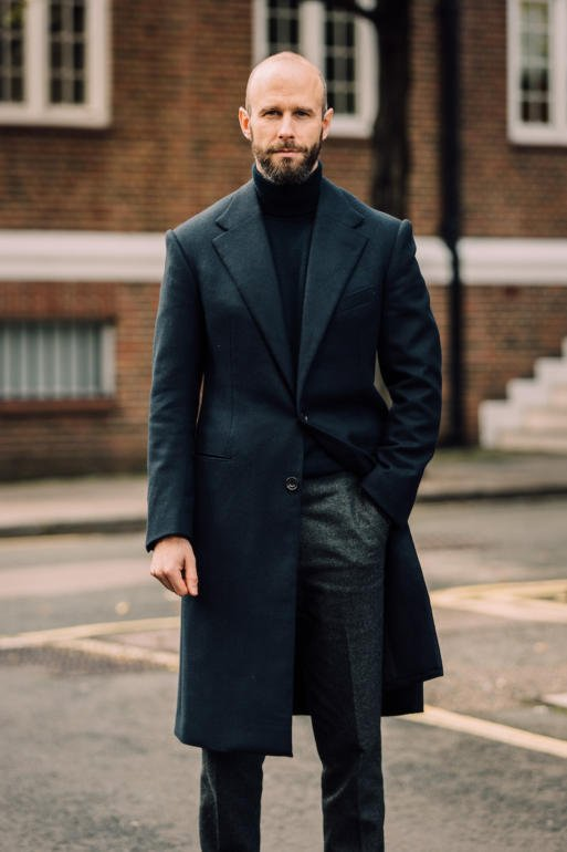 X-Future Mens Single-Breasted Mid Length Overcoat Thicken Loose Windbreaker Topcoat