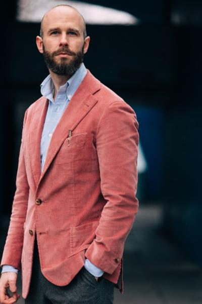 Pink corduroy - toned down