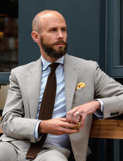 Summer grey/brown suit