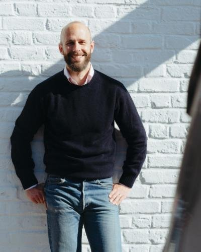 Navy shetland, pink oxford, vintage jeans
