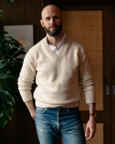 Cricket sweater with polo and jeans